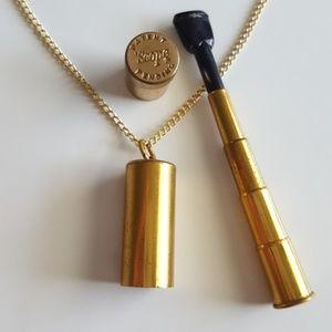 Vintage 40's Cigarette Holder Necklace!